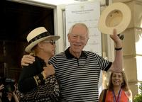 Max von Sydow and his wife at the 54th San Sebastian Film Festival.