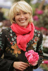 Emma Thompson at the Chelsea Flower Show.