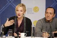 Uma Thurman and Kevin Spacey at the press conference of Nobel Peace Prize Concert in Oslo.