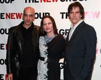 Alok Tewari, Cindy Katz and Adam Trese at the party to celebrate production of