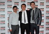 Simon Bird, Joe Thomas and Blake Harrison at the Jameson Empire Awards in London.