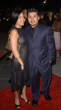 Sylvia and her husband Jacob Vargas at the premiere of