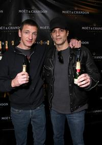 John Hawkes and Yul Vazquez at the Luxury Lounge in honor of the 2008 SAG Awards.