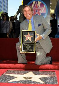 Robert Wagner at the Hollywood Walk of Fame ceremony.