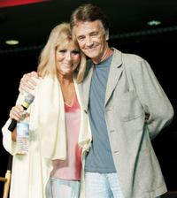 Grace Lee Whitney and Robert Walker, Jr. at the Star Trek convention.