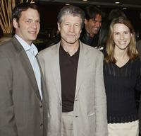 Jeff Gaspin, Fred Ward and Jennifer O'Connell at the after party of the premiere of