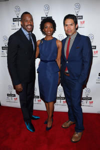 Colman Domingo, Sharon Washington and Clint Ramos at the 28th Annual Lucille Lortel Awards.