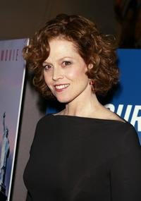 Sigourney Weaver at the New York premiere of