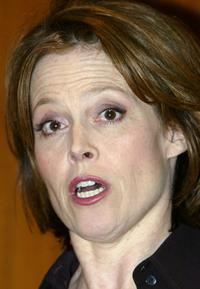 Sigourney Weaver at the National Museum of American History to present the egg prop from the movie Aliens .