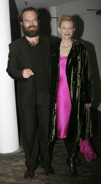 Hugo Weaving and Cate Blanchett at the opening night party for