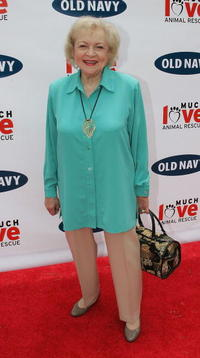 Betty White at the Old Navy's kick off event in it's nationwide search for a new canine mascot.