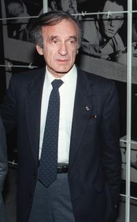 Elie Wiesel at the Buchenwald concentration camp.