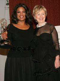 Oprah Winfrey and Hillary Rodham Clinton at the 33rd International Emmy Awards Gala at the Hilton Hotel.
