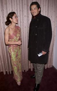 Michelle Yeoh and Russell Wong at the screening of Crouching Tiger, Hidden Dragon.
