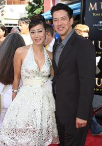 Elizabeth Wong and Russell Wong at the premiere of