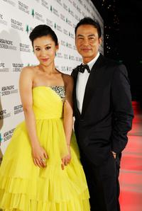 Miao Pu and Simon Yam at the Asia Pacific Screen Awards.