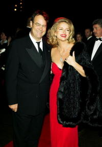 Dan Aykroyd and his wife Donna Dixon at the 2003 Whitney Gala celebrating American Minimalist Painter and Sculptor Ellsworth Kelly's 80th birthday.