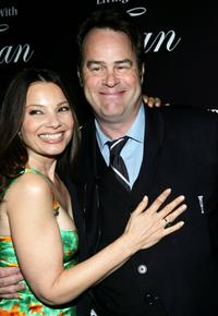 Dan Aykroyd and Fran Drescher at the party for the premiere of