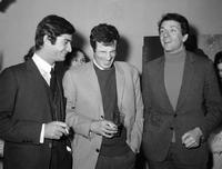 Jean-Paul Belmondo, his friends Jean-Claude Brialy and Jean-Pierre Cassel le in Paris.