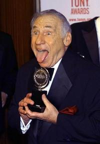 Mel Brooks at Radio City Music Hall in New York receiving his Tony award for