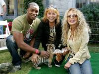 Dyan Cannon, Roger Cross and Martine Collette at the Playboy Mansion for the 12th Annual Safari Brunch, a fundraiser for the Wildlife Waystation .