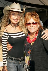 Dyan Cannon and Martine Collette at the Playboy Mansion for the 11th Annual Safari Brunch, a fundraiser for the Wildlife Waystation.