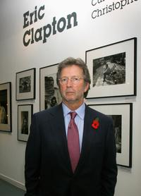 Eric Clapton at the launch party of his book.