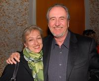 Wes Craven and Iya Labunka at a cocktail reception before the Los Angeles premiere of