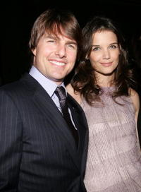 Katie Holmes and Tom Cruise at 'The Black Ball' in New York City.