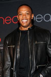 Dr. Dre at the Heartbeats by Lady Gaga headphones unveiling.
