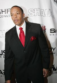 Dr. Dre at the Shady National Convention to launch Shade 45.