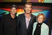 Jake Eberts, Pierce Brosnan and Sylvia Earle at the premiere of