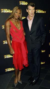 Pierce Brosnan and Tennis player Serena Williams at the London premiere of