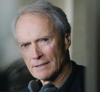 Director/Producer Clint Eastwood on the set of