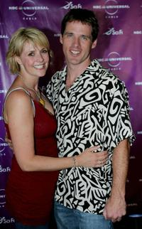 Amanda Topping and Ben Browder at the Sci-Fi Channel talent party.