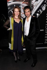 Erin Cressida Wilson and Atom Egoyan at the after party of the premiere of