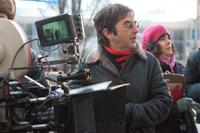 Atom Egoyan on the set of