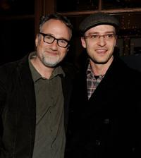 David Fincher and Justin Timberlake at the Blu-ray & DVD launch party of