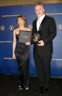Jodie Foster and David Fincher at the press room during the 61st Annual Directors Guild of America Awards.