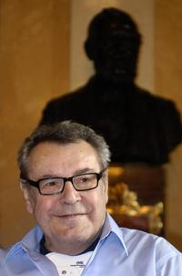 Milos Forman at a press conference of the Czech jazz ''A Walk Worthwhile''.