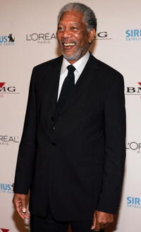 Actor Morgan Freeman at the Clive Davis Grammy Party in Beverly Hills.