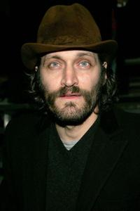 Vincent Gallo at the Marc Jacobs Fall 2005 show during the Olympus Fashion Week.