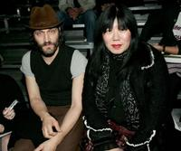 Vincent Gallo and designer Anna Sui at the Marc Jacobs Fall 2005 show during the Olympus Fashion Week.