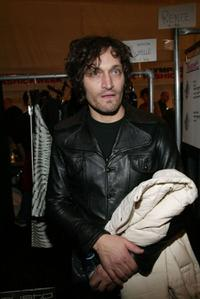 Vincent Gallo at the Custo Barcelona 2004 Fall fashion show during the Olympus Fashion Week.