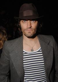 Vincent Gallo at the Anna Sui Spring 2007 Fashion show during the Olympus Fashion Week.