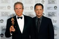 Warren Beatty and Tom Hanks at the 64th Annual Golden Globe Awards.