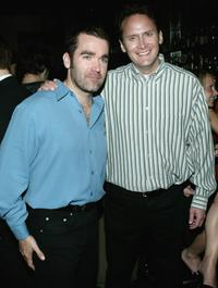 Brian d Arcy James and Michael Hitchcock at the opening night of
