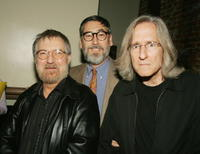 Tobe Hooper, John Landis and Mick Garris at the party to celebrate Showtime's series