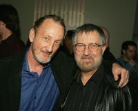 Robert Englund and Tobe Hooper at the party to celebrate Showtime's series