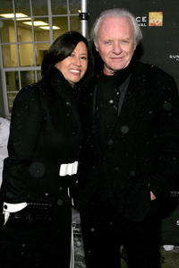 Anthony Hopkins and wife Stella Arroyave at the